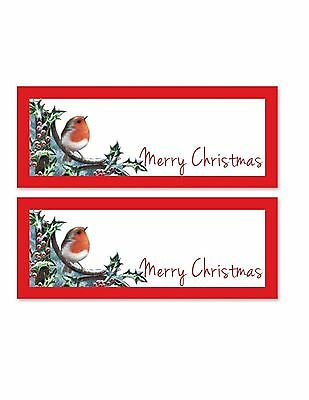 24 Robin Christmas Party Table Name Place Card Settings Favour Decoration Dinner