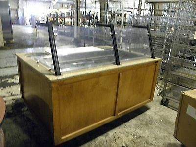 "Custom Bilt 4 Well 70"" Refrigerated Mobile Salad Oilve Display Buffet Table Bar"