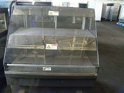 "Alto Shaam Cc-48 48"" Slanted Front Glass Hot Food Chicken Heat Hold Display Case"