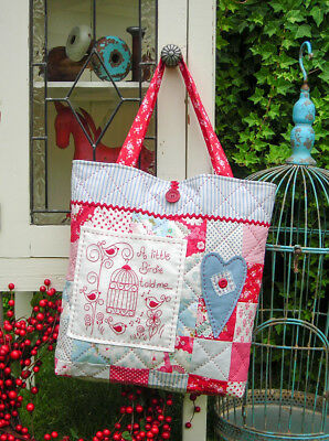 Quilting Sewing Bag Pattern A LITTLE BIRDIE Sally Giblin Rivendale New