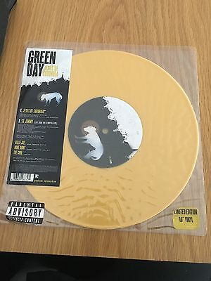 "GREEN DAY Jesus Of Suburbia 10"" limited edition Yellow vinyl record 2005"