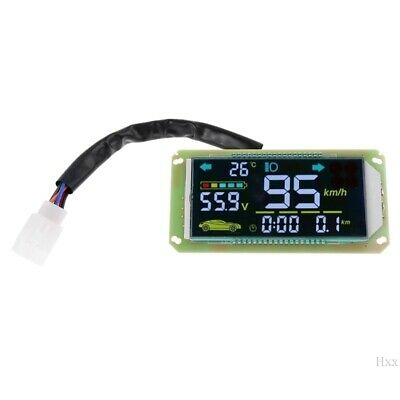 48V 60V Multifunction Voltmeter Thermometer Speedometer for Electric Bicycle