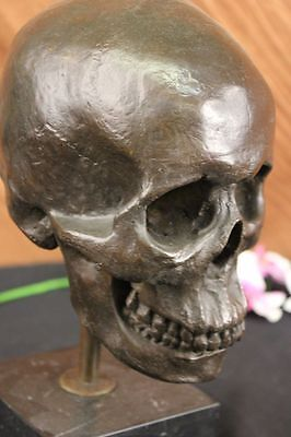 Handcrafted DEAL Bronze Sculpture Statue Hand Crafted Skeleton Hallowen Ef