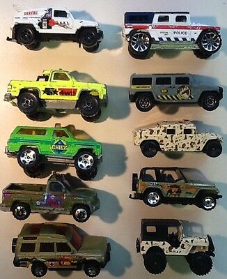 DIECAST COLLECTION OF OFF ROAD 4x4 4WD CHEVY LAND ROVER JEEP WRANGLER HUMMER ***