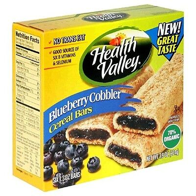 Heath Valley Natural Foods 30996 Organic Blueberry Cobbler Cereal Bar. Best Pric