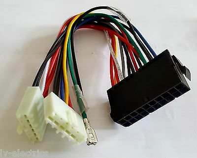 20P ATX to 2-Port 6Pin AT PSU Converter Power Cable Lead Wire 286 386 486 586 PC