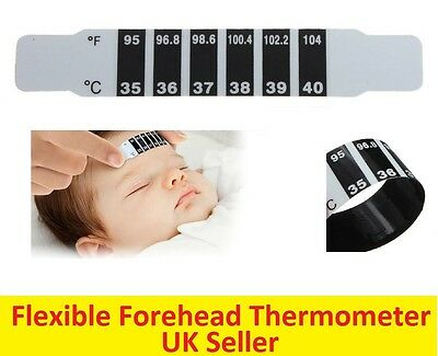 2x Forehead Thermometer Strip Fever Cold Baby Child Adult Check Test Temperature