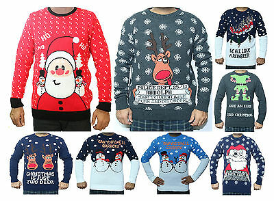 Christmas Xmas Jumper Sweater Retro Novelty Knitted Mens Ladies Unisex Size New