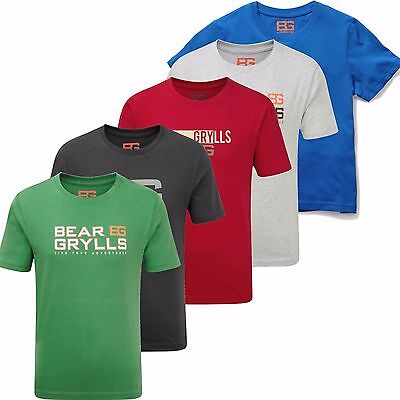 Bear Grylls Kids Graphic T-shirt Boys Cotton Tee by Craghhoppers