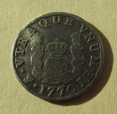 1770 Bolivia 1 Real 1R PTS Potosi Pillar Silver Coin Spanish Colonial KM#47