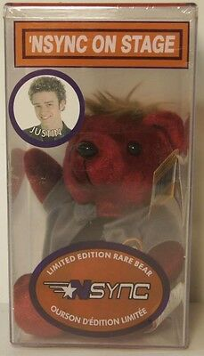 Nsync On Stage Limited Edition Rare Bear - Justin New In Package Sealed