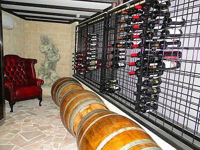 216 Bottle Steel Metal Wine Storage Rack Powder Coated Black over Galvanising