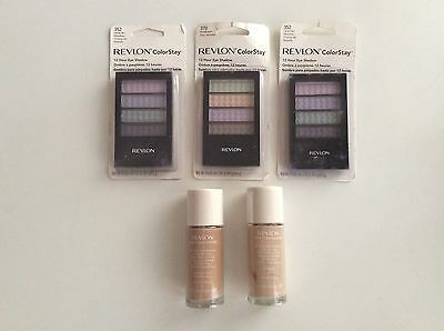 Bulk Lot - 5 X Revlon Products - Eye Shadow & Foundation - All Brand New