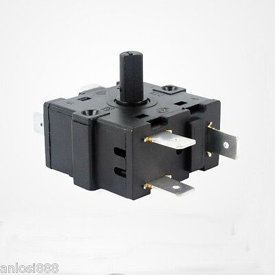 Heater 5 Pins 4 position 16A Rotary Selector Switch OFF/Low/Medium/High