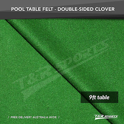 Clover Double-sided Wool Pool Snooker Table Top Cloth Felt for 9''