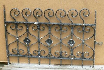 """Antique Wrought Iron WINDOW GATE Guard - Architectural Salvage 29"""""""