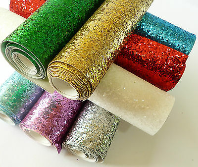 Bling Glitter Leather Sparkly Fabric Vinyl Bow Crafts Cover Wallpaper Material