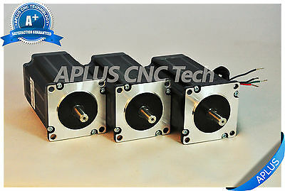 3 PCS NEMA 23 Stepper Motor, 354oz-in 100mm 4.2A, 1.8degree, 4wires