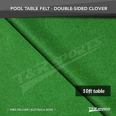 Clover Double-sided Wool Pool Snooker Table Top Cloth Felt for 10''