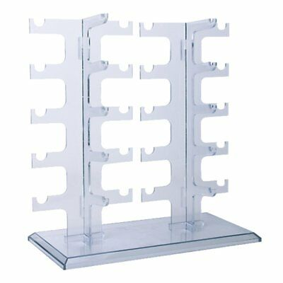 10-Pair Acrylic Sunglasses Glasses Retail Shop Display Stand Holder Rack Case AP