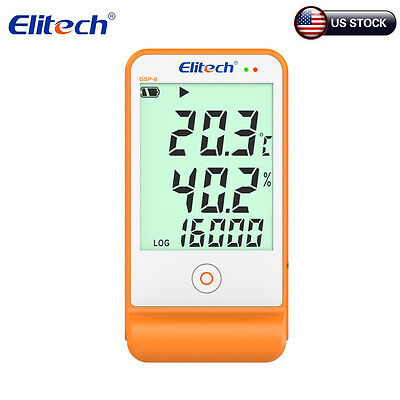 Elitech GSP-6 Temperature and Humidity Data Logger Recorder