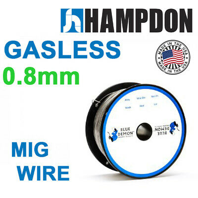 Gasless Mig Welding Wire 0.8mm 0.45kg Spool BLUE DEMON E71T-11 USA MADE