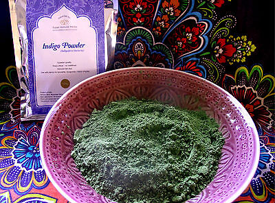 Indigo Powder 200gms -(Indigofera tinctoria) Natural hair dye Fresh 2016 harvest