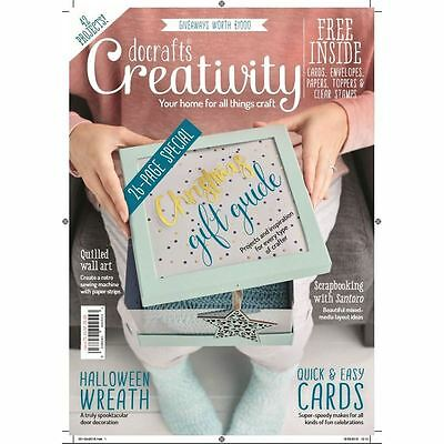 Docrafts Creativity Magazine Volume 75 Craft Projects Free Cards Toppers Stamps