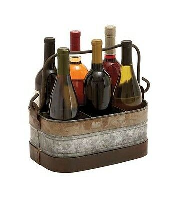 Woodland Import 144542.1lanized Wine Holder with Six Compartments. Free Shipping