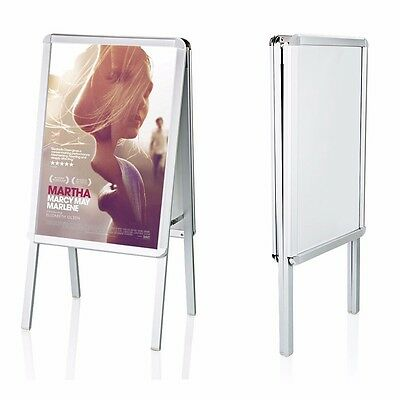 A2-Board Double Side Aluminium Pavement Sign, Snap Frame Poster Display Stand
