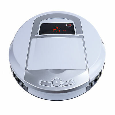 Vacuum Cleaner Robot Robotic Automatic Carpet Dust Auto Sweeper Recharge White