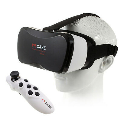 VR CASE 5 Plus 3D Virtual Reality Headset Glasses with Bluetooth Controller
