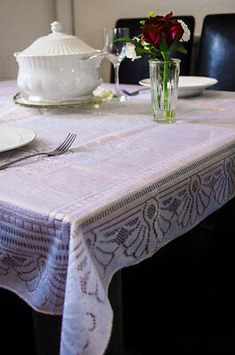 Beautiful Traditional Woven Lace Tablecloth