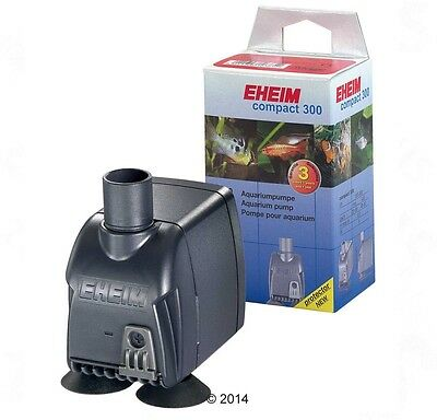 Small Quiet Aquarium Easily Concealable Energy Efficient Eheim Compact Pump 300