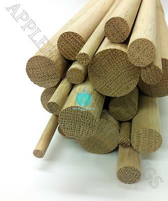 5pcs 1 Dia Oak Dowel Rod 36 Inches (25.4 x 914mm) - SECONDS
