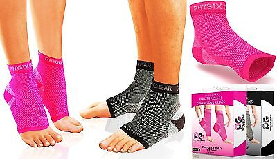 Plantar Fasciitis Socks with Arch Support BEST 24/7 Foot Care Compression Sle...