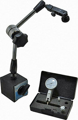 New Horizontal Dial Indicator with Magnetic Base Holder Free Ship