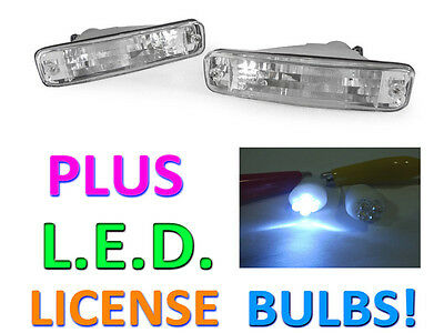 DEPO 90-91 Acura Integra Clear Bumper Signal Lights + LED License Bulbs New