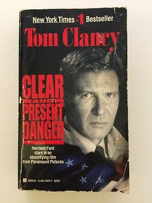 Clear And Present Danger A Novel By Harrison Ford Paperback Book