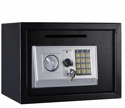 16L Digital Steel Safe Electronic Security Home Office Money Cash Safety Box