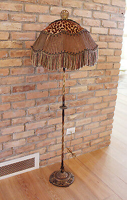 1915 Incredible French Antique Floor Lamp Unbelievable Shade