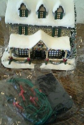 """Thomas Kincaid """"From the Heart Gifts""""  Village House Lights Up  #79974"""