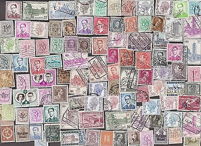 100 All Different BELGIUM  Stamps