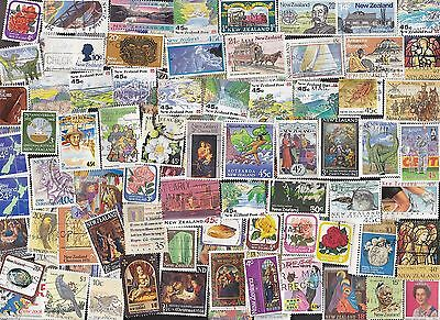 100 All Different NEW ZEALAND C&P Stamps