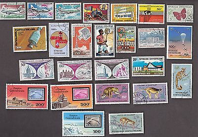 25 All Different CENTRAL AFRICAN REPUBLIC  Stamps