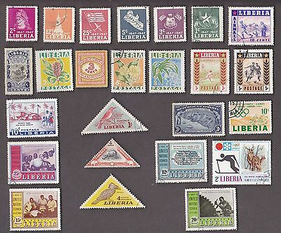 25 All Different LIBERIA Stamps (TYPE 2)