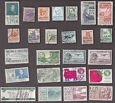 25 All Different MEXICO  Stamps