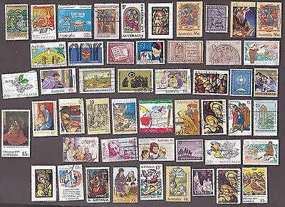 50 All Different AUSTRALIA CHRISTMAS  Stamps