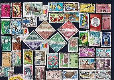 50 All Different Chad (Tchad)  Stamps