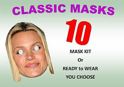 10 Personalised Face Masks - Hen Party Mask Kits or Ready to Wear lower Prices